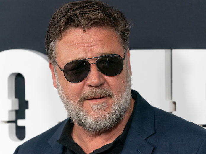 Russell Crowe attends Showtime network premiere of The Loudest Voice