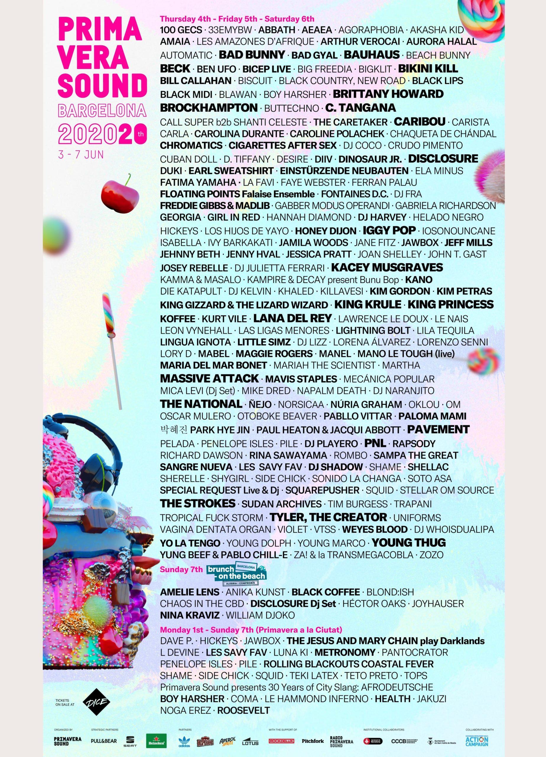 Primavera Sound 2020 line-up