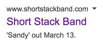 Short Stack reunion