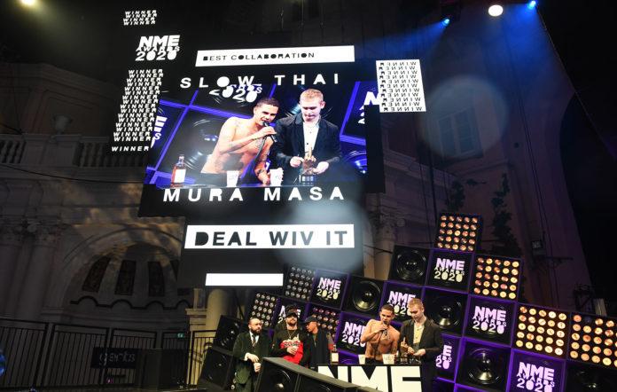 Slowthai and Mura Masa at the NME Awards 2020