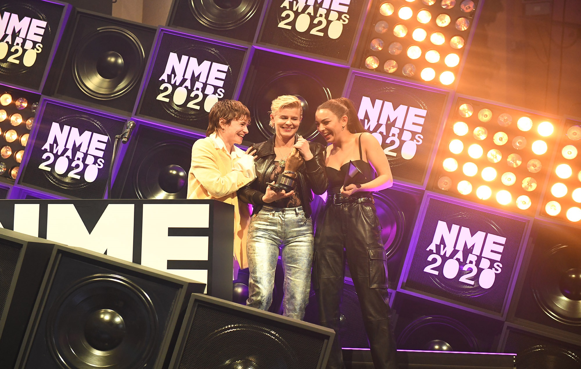 Robyn receives the NME Songwriter Of The Decade gong at the NME Awards 2020