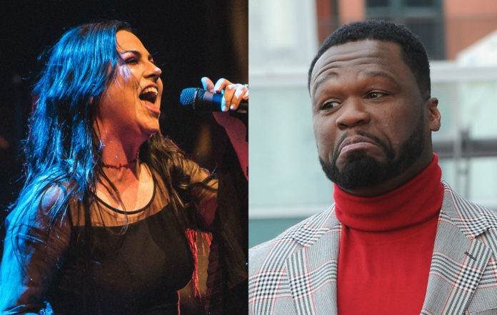 Amy Lee Evanescence and 50 Cent