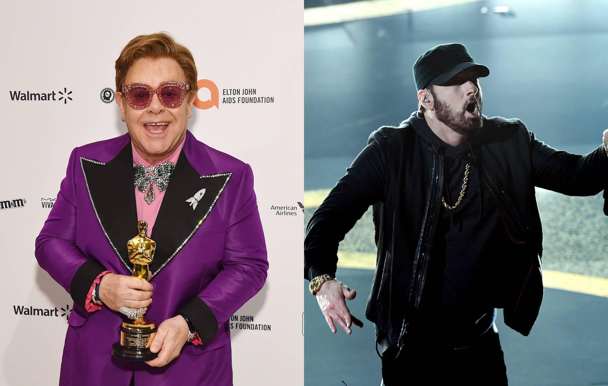 Eminem Reunites With Uncle Elton John At The Oscars