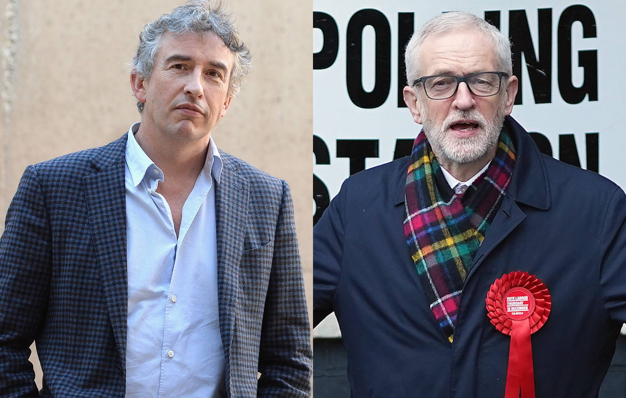 """Steve Coogan reflects on Jeremy Corbyn's election defeat: """"It was a personality thing"""""""