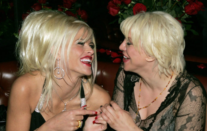 Anna Nicole Smith and Courtney Love