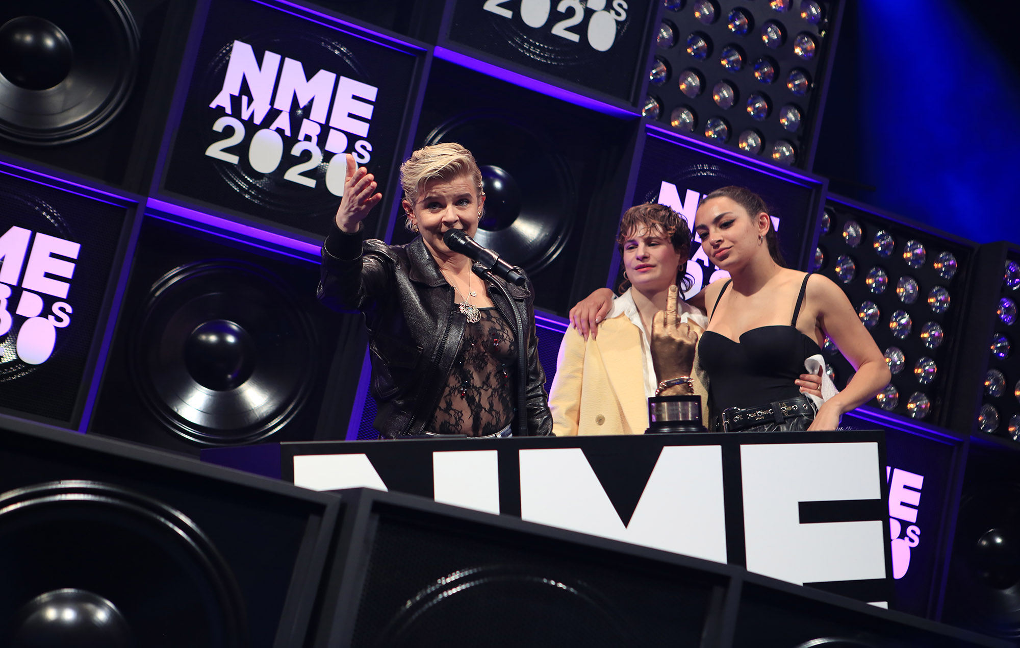 Robyn accepts her award for Songwriter of the Decade