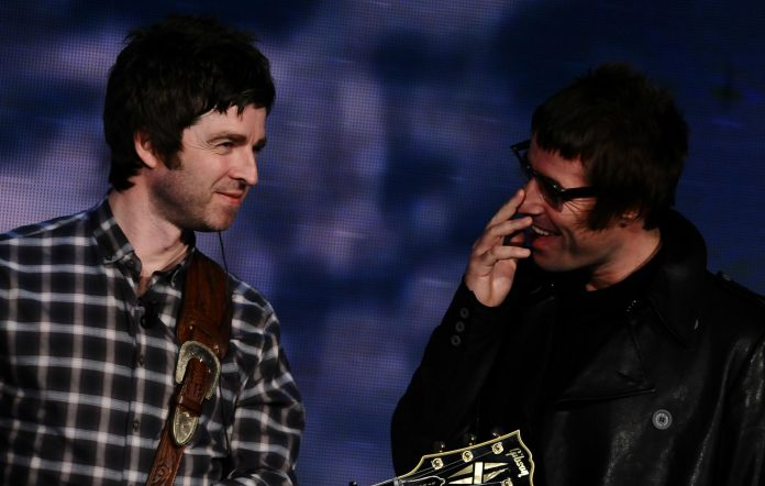 Liam and Noel Gallagher; Oasis
