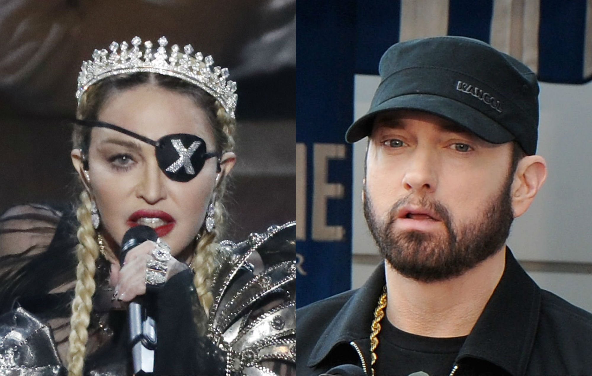 Madonna praises Eminem on gun control with 'The Sound of Silence' cover