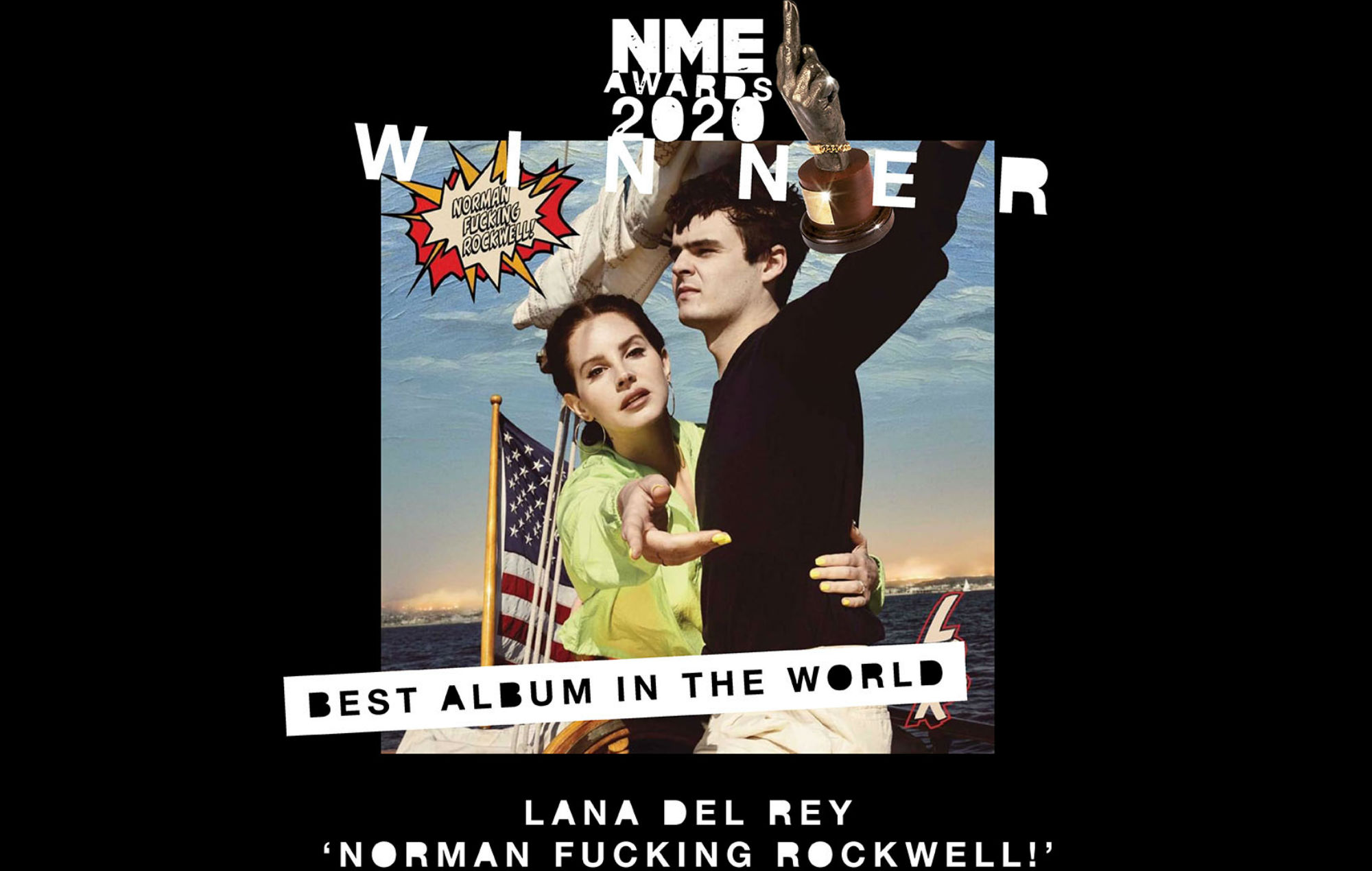 Lana Del Rey wins Best Album In The World at NME Awards 2020