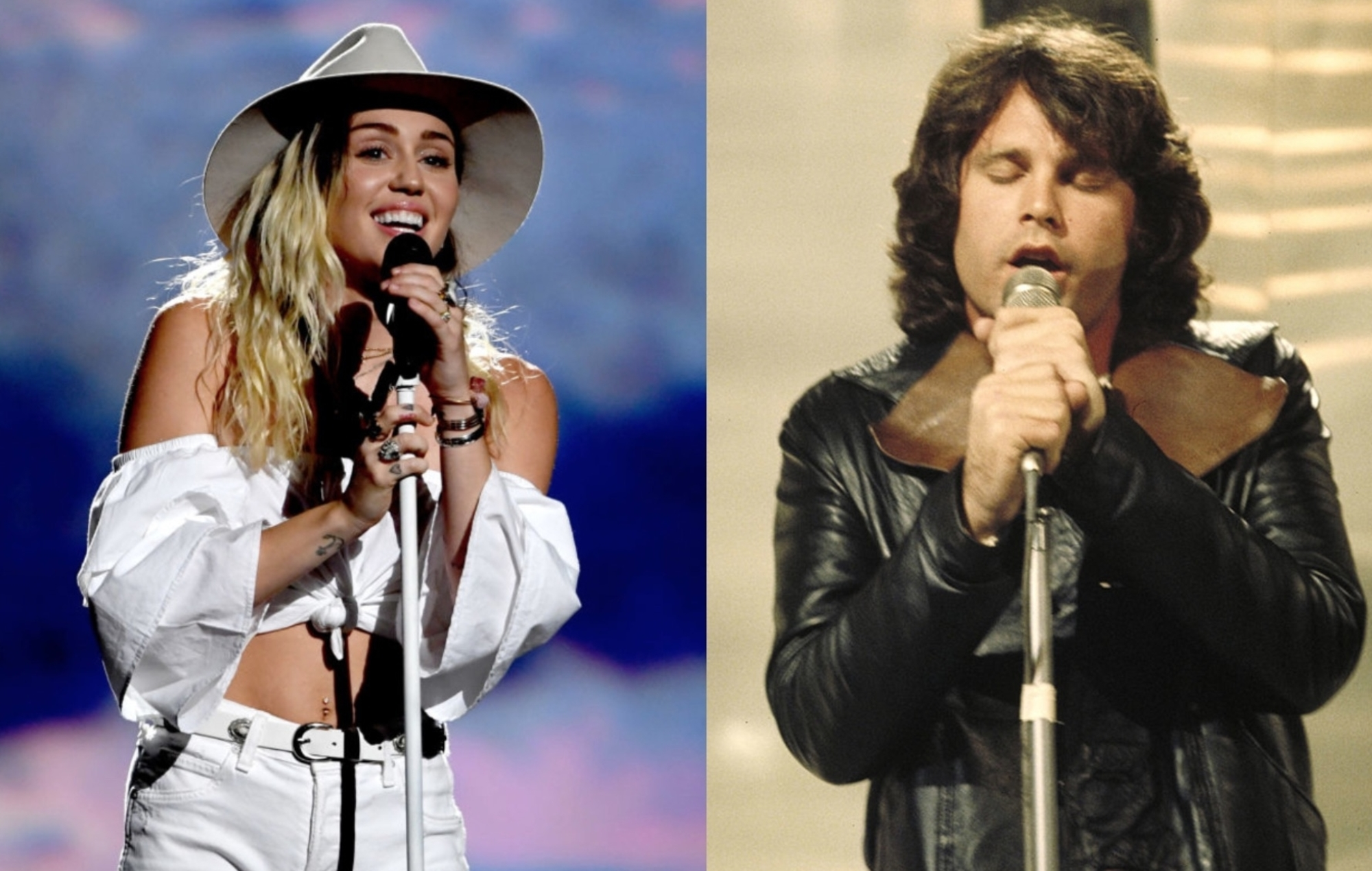 Miley Cyrus covers The Doors' 'Roadhouse Blues' with Robby Krieger