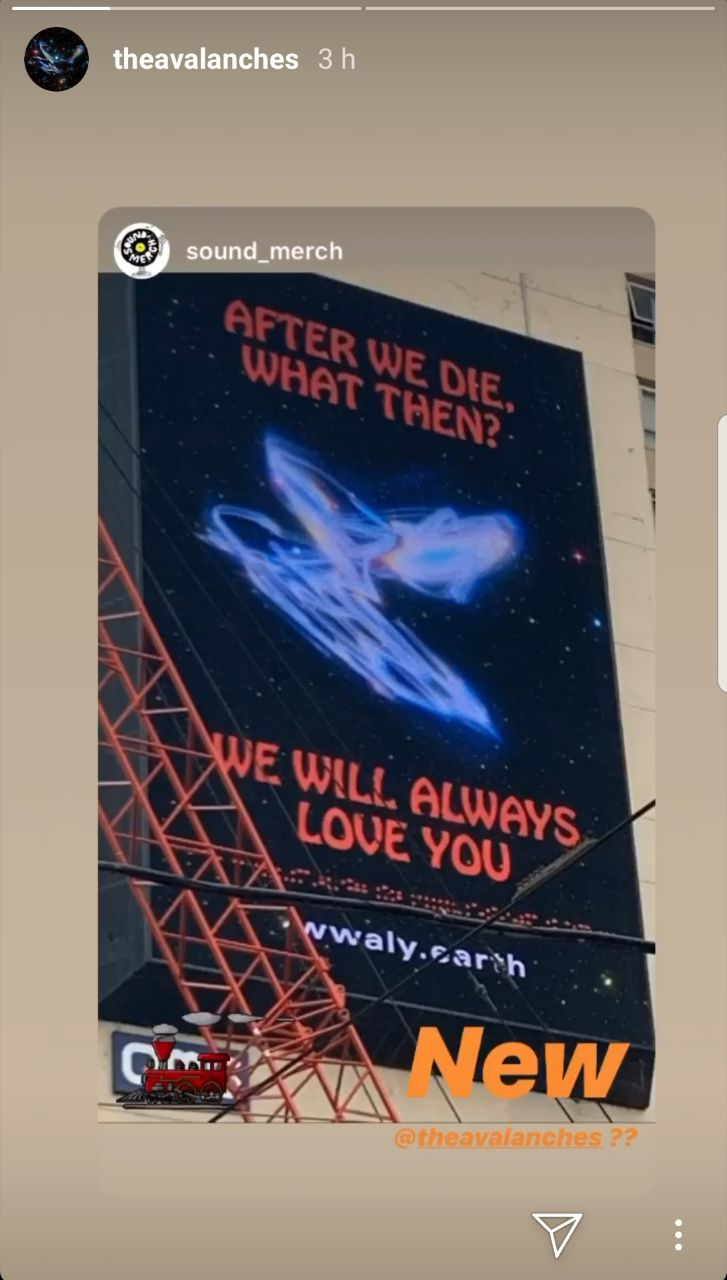 The Avalanches billboard tease Australia Instagram