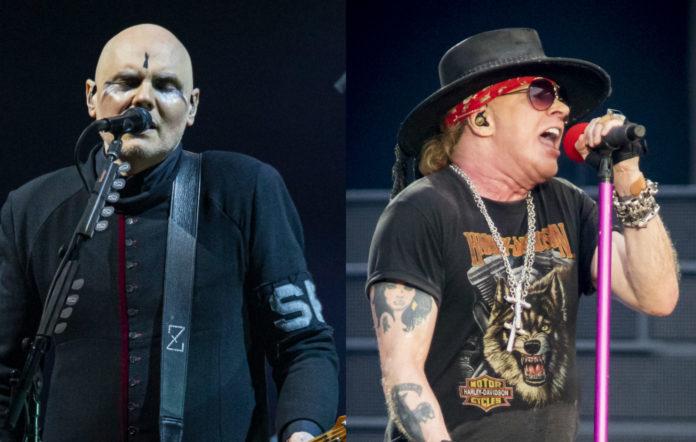 Billy Corgan of Smashing Pumpkins; Axl Rose of Guns N' Roses