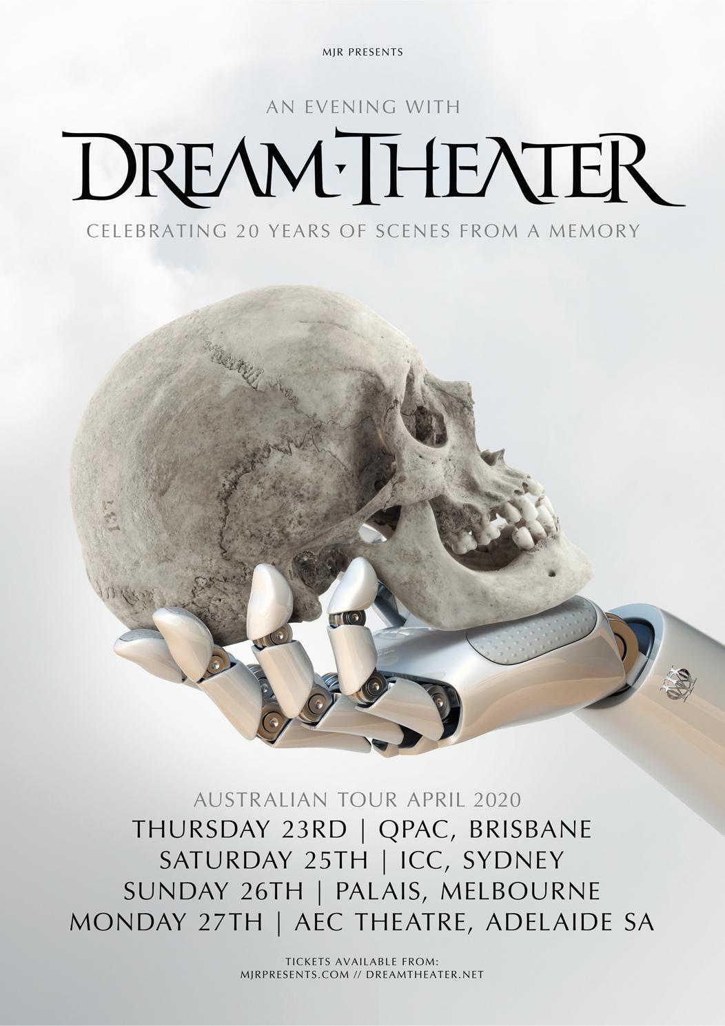 Dream Theater Australia 2020 tour