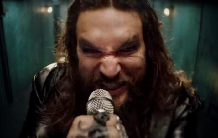 Screenshot from the teaser for 'Scary Little Green Men' starring Jason Momoa
