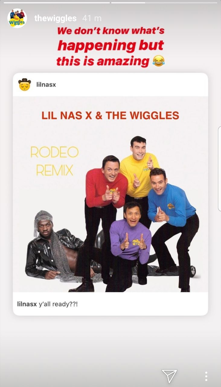 Wiggles response to Lil Nas X Rodeo remix collaboration
