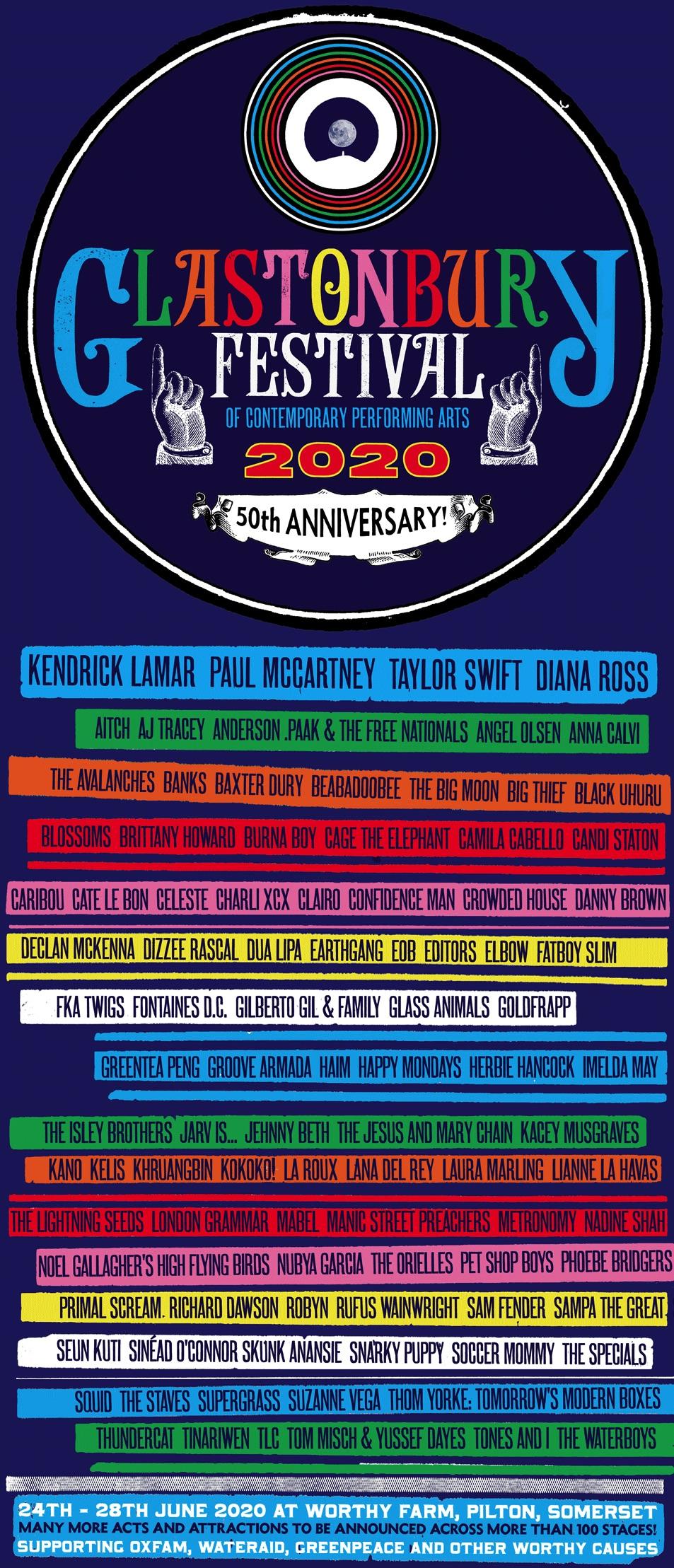 Glastonbury 2020 Lineup