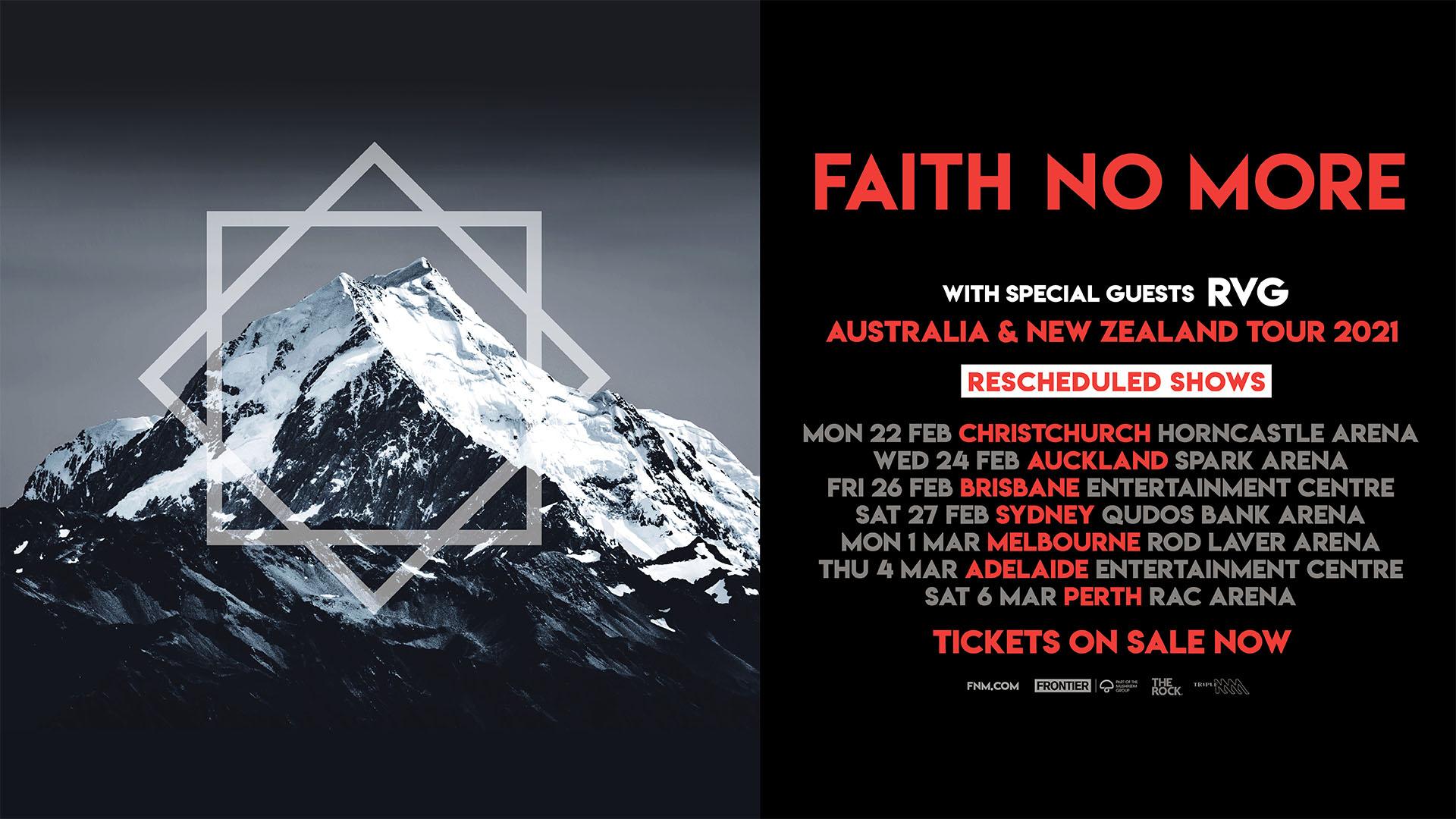 Faith No More rescheduled tour dates 2021