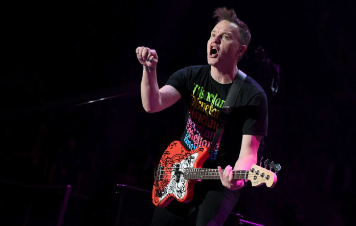 Mark Hoppus of blink-182 performs onstage at the 2020 iHeartRadio ALTer EGO at The Forum on January 18, 2020 in Inglewood, California. (Photo by Jeff Kravitz/FilmMagic for iHeartMedia )