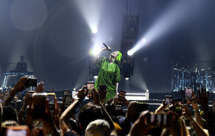 Billie Eilish performs on the first night of her world tour at Miami at American Airlines Arena