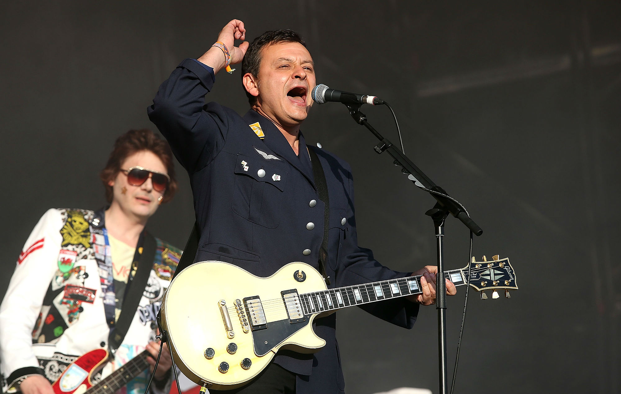 Manic Street Preachers performs on Day 2 of the Glastonbury Festival at Worthy Farm on June 28, 2014 in Glastonbury, England. (Photo by Danny Martindale/WireImage)