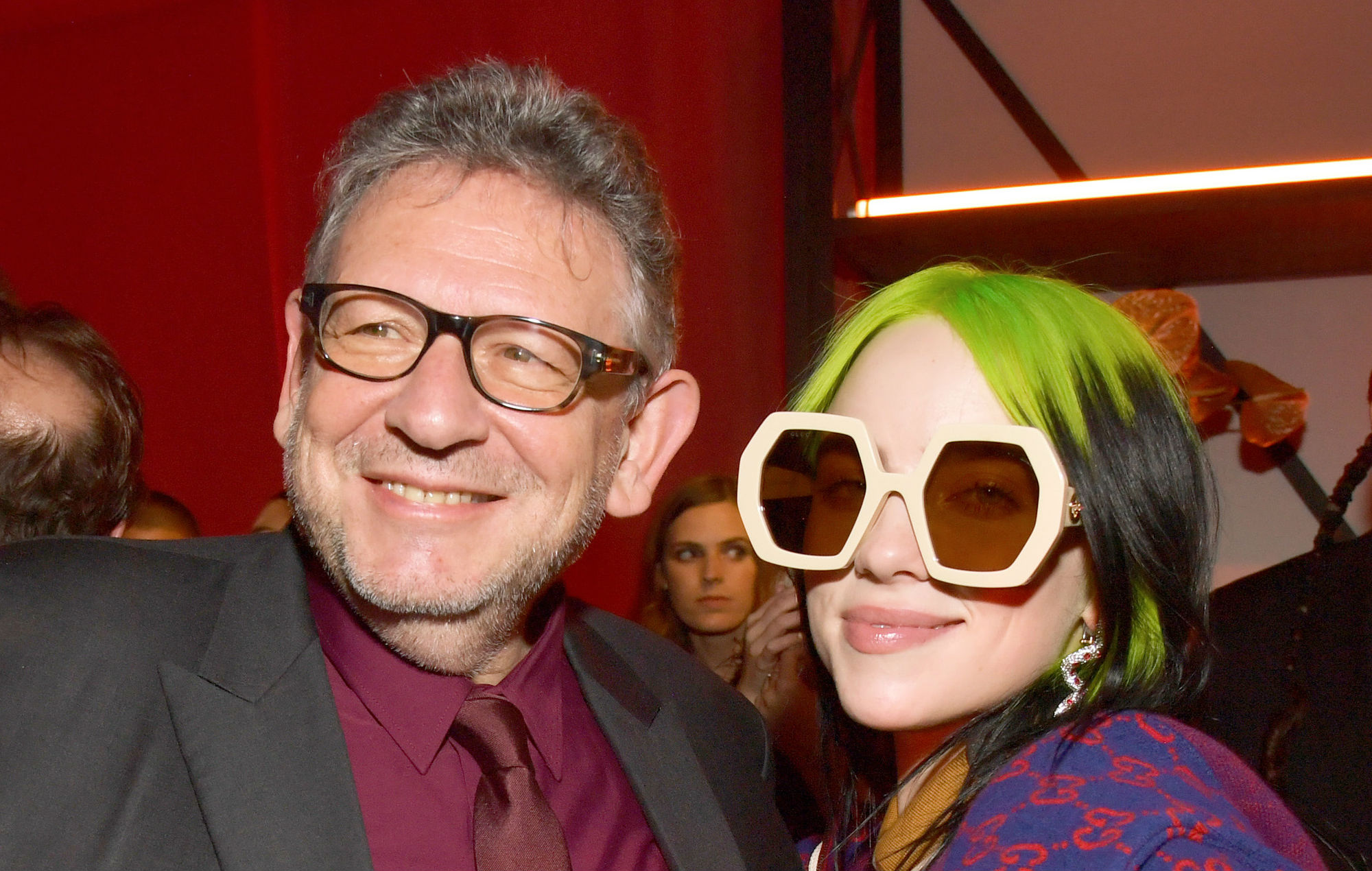 Lucian Grainge and Billie Eilish