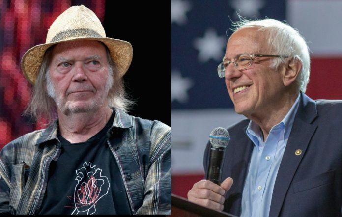 Neil Young Bernie Sanders