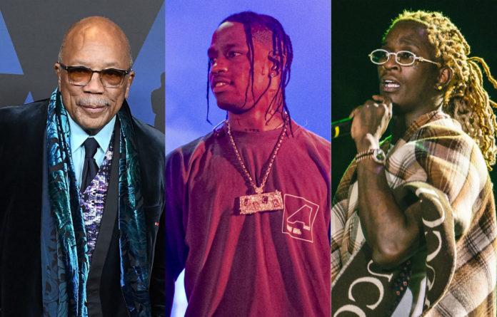 Quincy Jones, Travis Scott and Young Thug