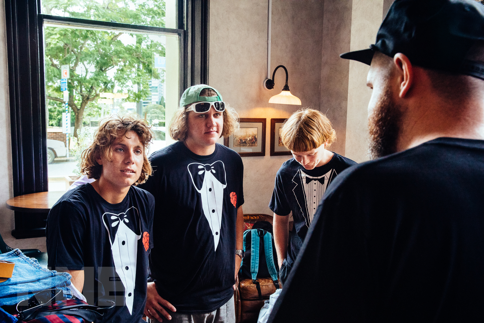 The Chats Dine N Dash music video behind the scenes