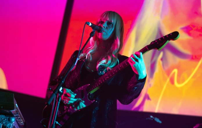 Ruth Radelet of Chromatics performs on stage