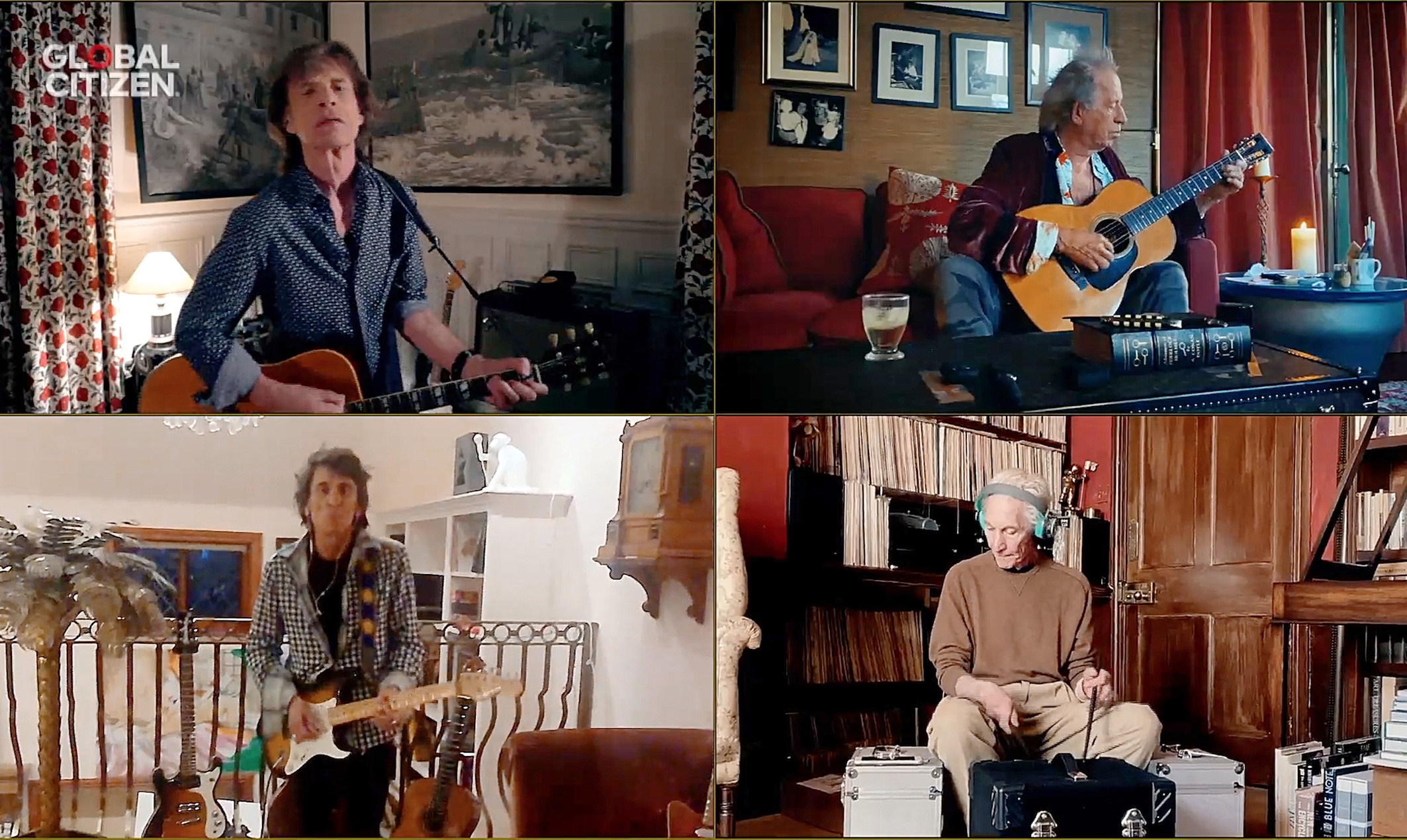 The Rolling Stones perform over livestream as part of the One World: Together At Home virtual concert
