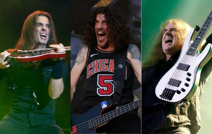 Kiko Loureiro, Frank Bello and David Ellefson