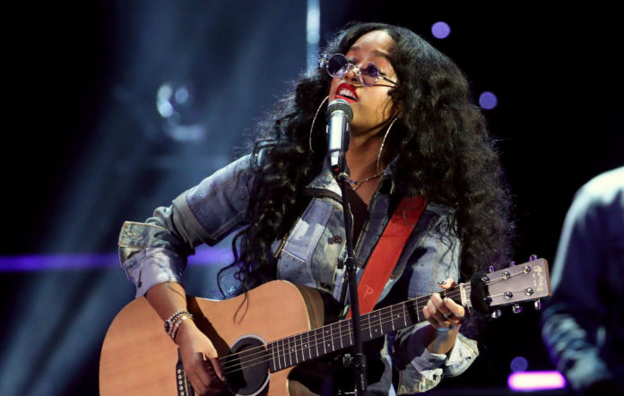 H.E.R. performs onstage