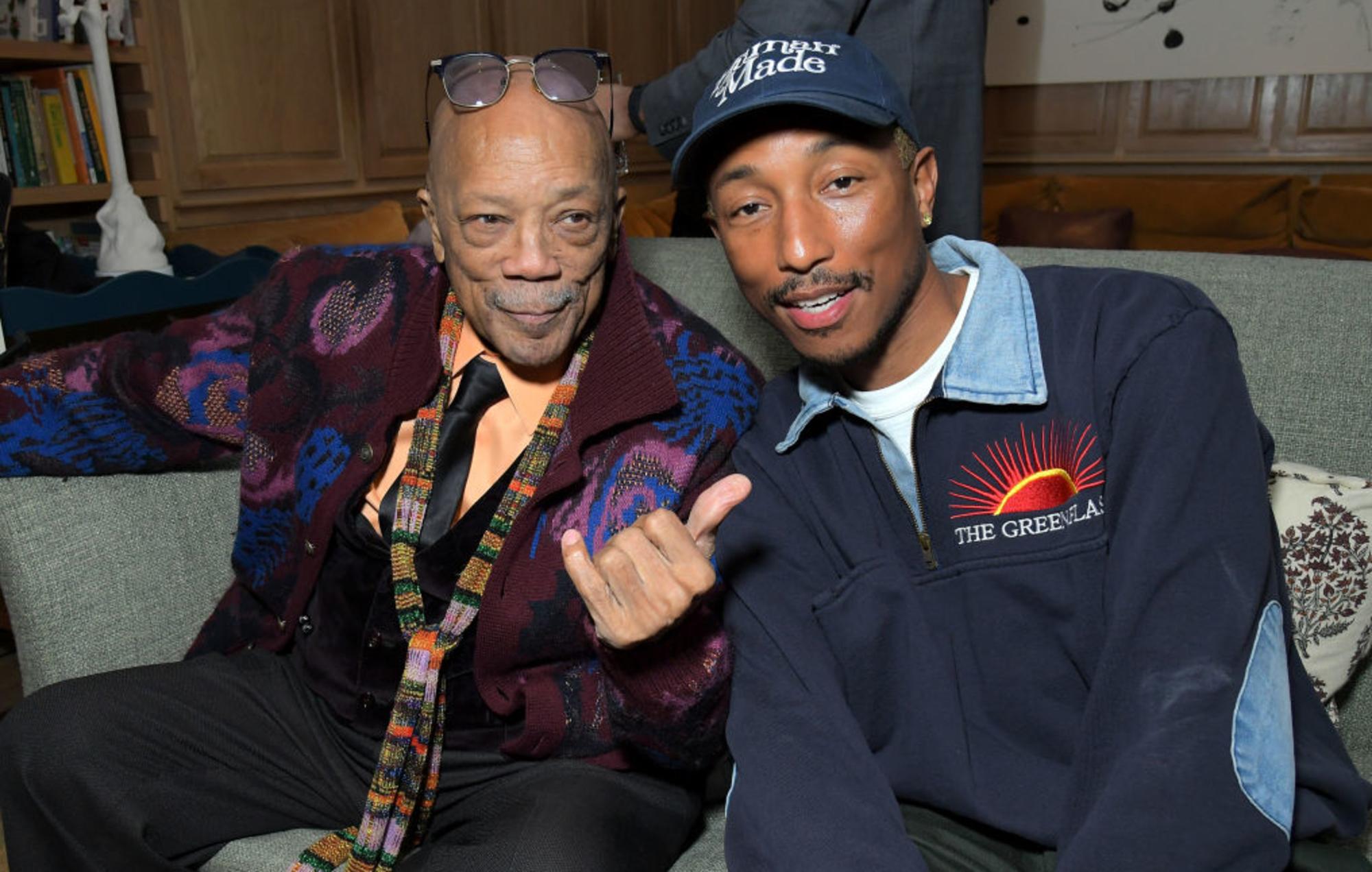 Pharrell and Quincy Jones
