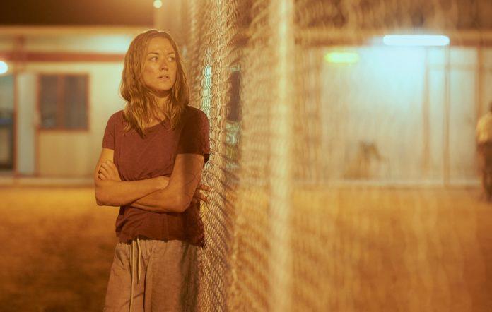 Sofie Werner, played by Yvonne Strahovski, at Barton Detention Centre in Australian TV show 'Stateless'