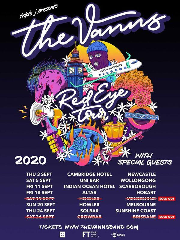 The Vanns tour dates