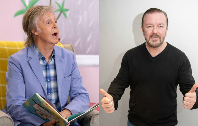 Sir Paul McCartney Ricky Gervais NHS