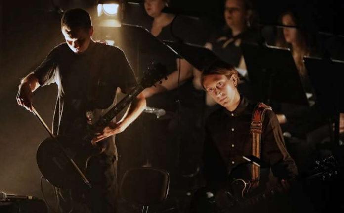 Jonsi and Alex Somers perform 'Riceboy Sleeps' at the Sydney Opera House