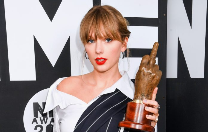 taylor swift nme awards 2020 getty images dave j hogan