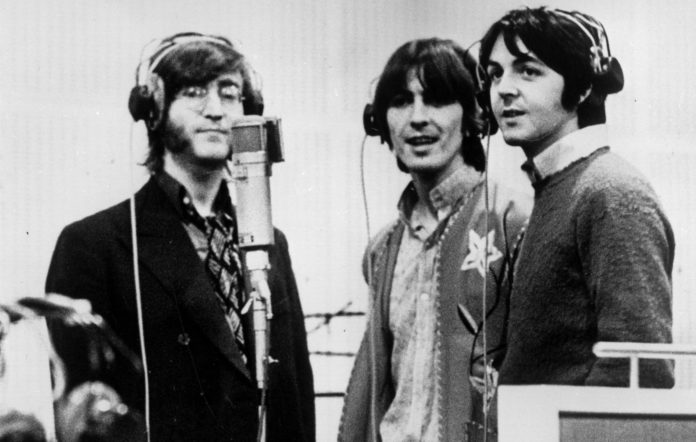 The Beatles' John Lennon, George Harrison and Paul McCartney