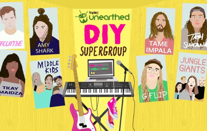triple j Unearthed DIY Supergroup