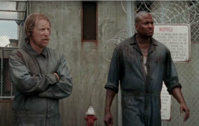 Vincent M Ward and Lew Temple in 'The Walking Dead' season 3