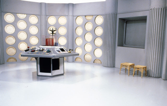 An image taken in 1983 of the set from 'Doctor Who'.
