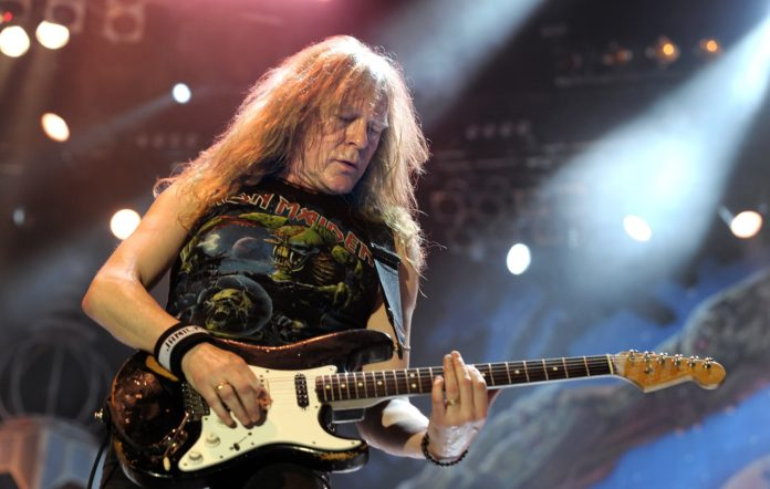 Janick Gers of Iron Maiden performing onstage