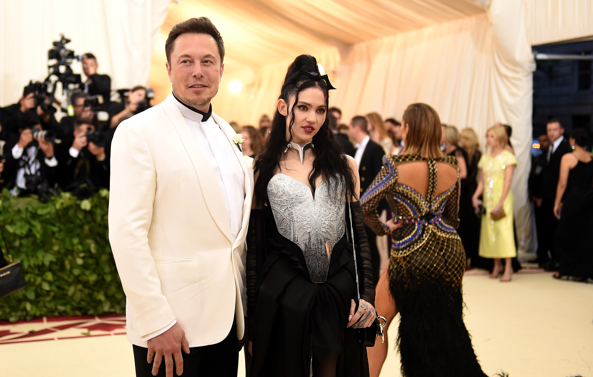 Elon Musk and Grimes.