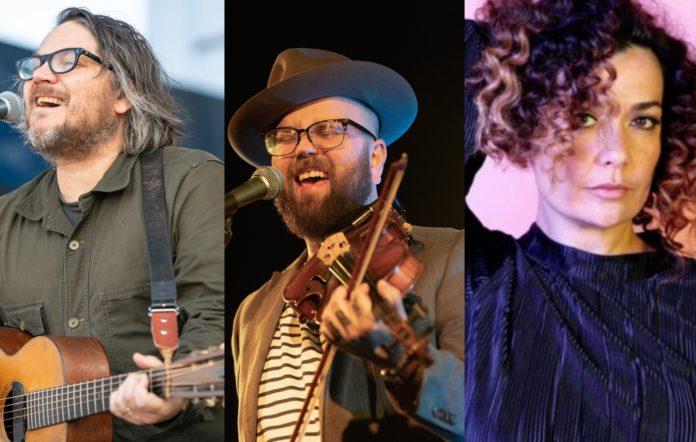 Jeff Tweedy, Joshua Hedley and Leah Flanagan