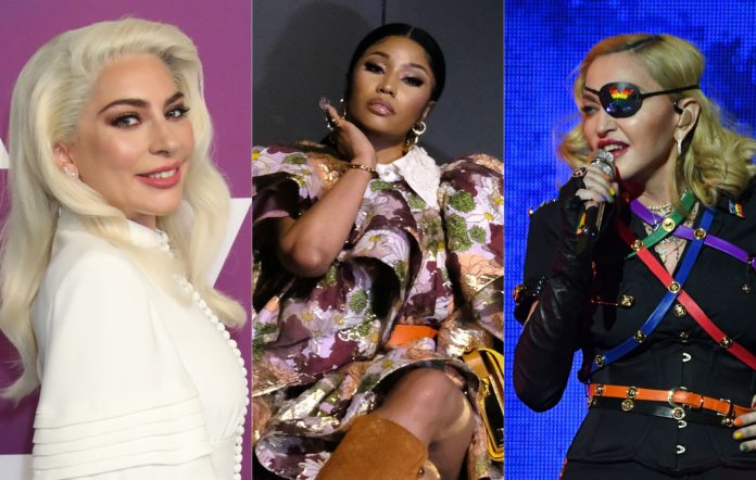 Lady Gaga, Nicki Minaj and Madonna have had their data stolen by hackers