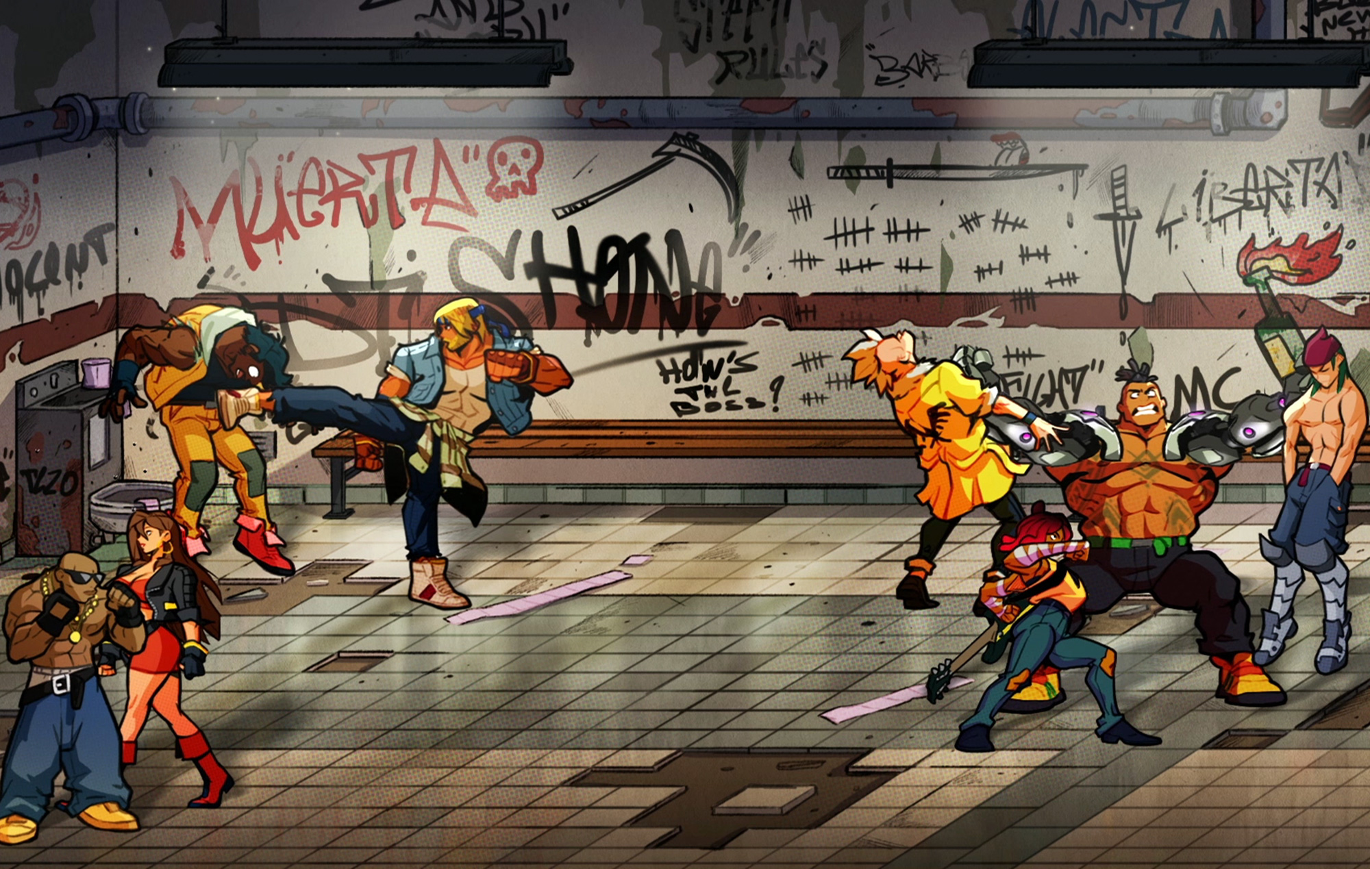 Streets Of Rage 4 fight