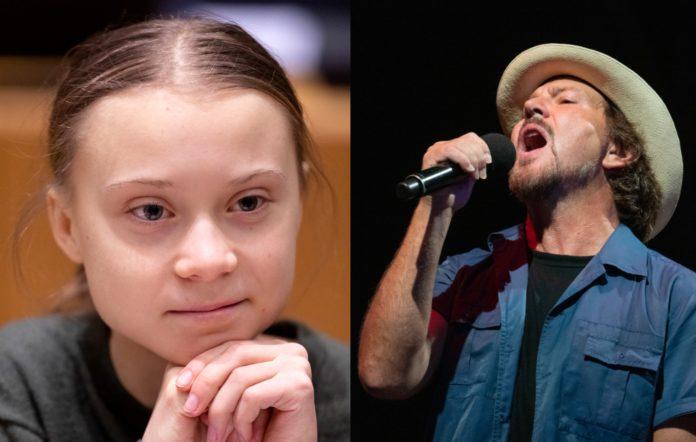 Greta Thunberg and Eddie Vedder