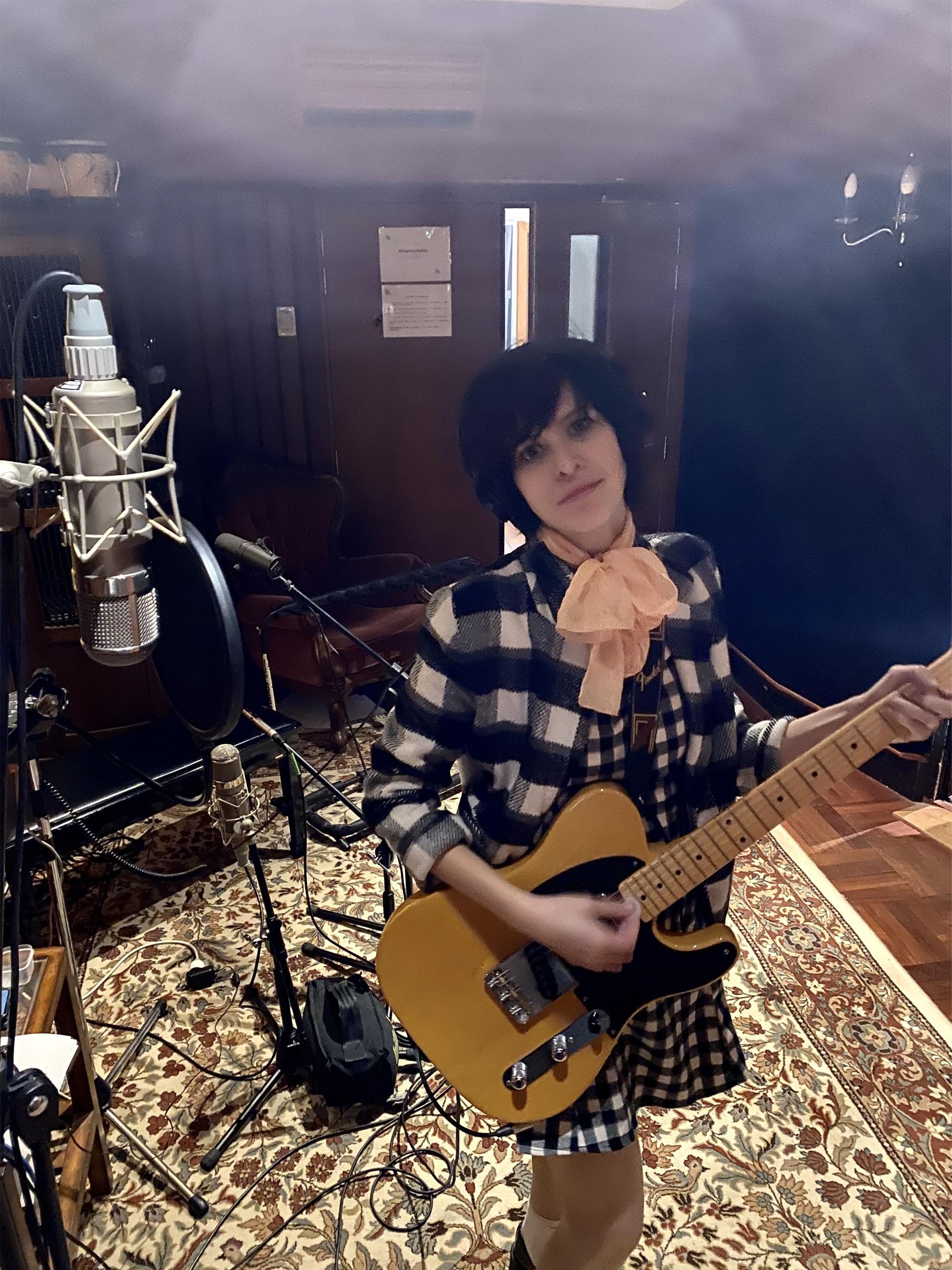 Hayley Mary debut solo album recording studio