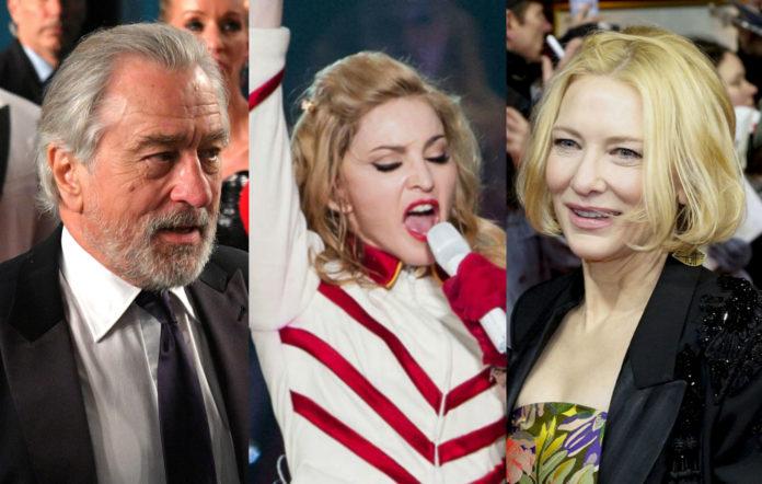 Robert De Niro, Madonna, Cate Blanchett